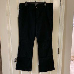 Nicole Miller bootcut black jeans size 16